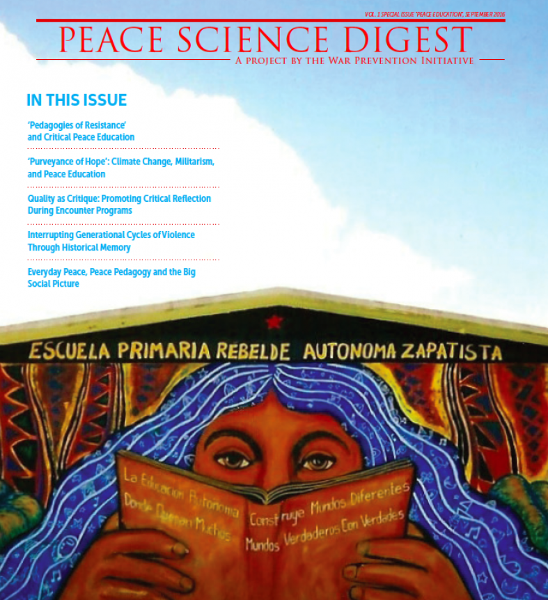 Special Issue: Peace Education