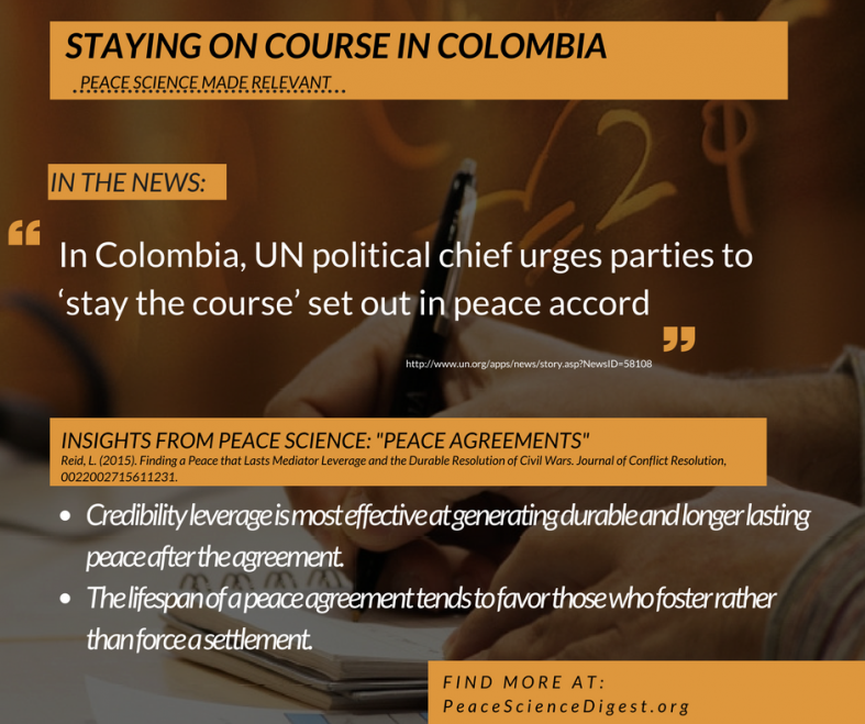 Media Leverage and the Colombian Peace Agreement