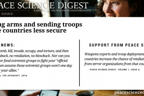 Selling Weapons and Sending Troops Make Countries Less Secure