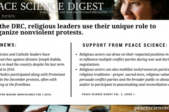 Congolese religious leaders use their unique role to organize nonviolent protests.