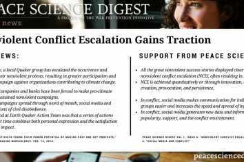 Nonviolent Conflict Escalation Gains Traction