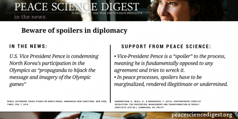 Beware of spoilers in diplomacy