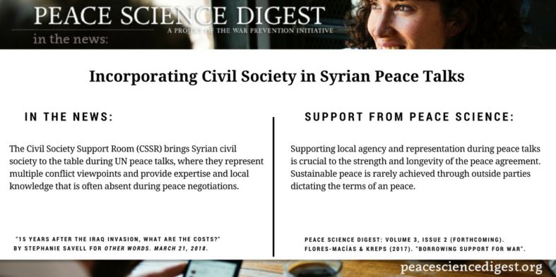 Incorporating Civil Society in Syrian Peace Talks