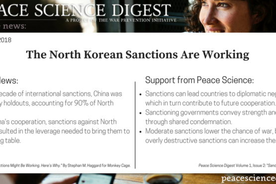 The North Korean Sanctions Are Working