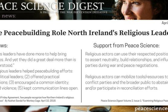 The Important Peacebuilding Work of North Ireland's Religious Leaders