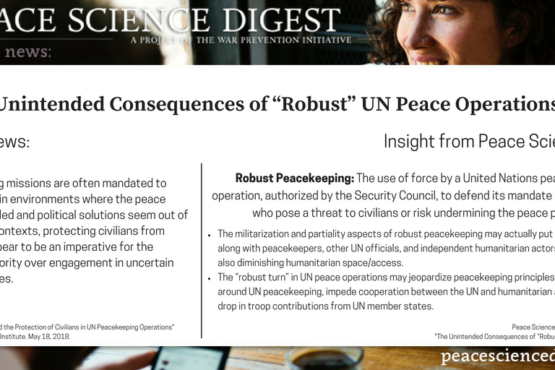 """Unintended Consequences of """"Robust"""" UN Peace Operations"""