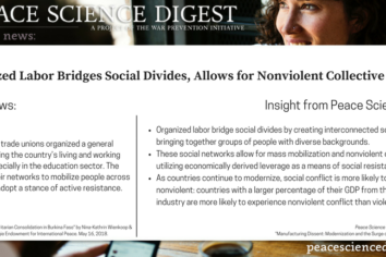Organized Labor Unions Bridge Social Divides To Allow For Nonviolent Collective Action