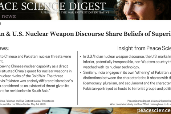 Masculinity Operates In Both U.S. And Indian Nuclear Weapon Discourses