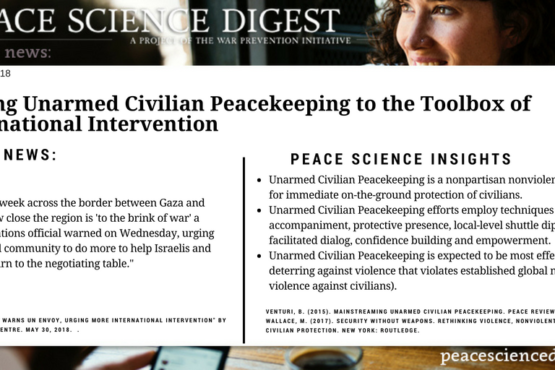 Adding Unarmed Civilian Peacekeeping to the Toolbox of International Intervention