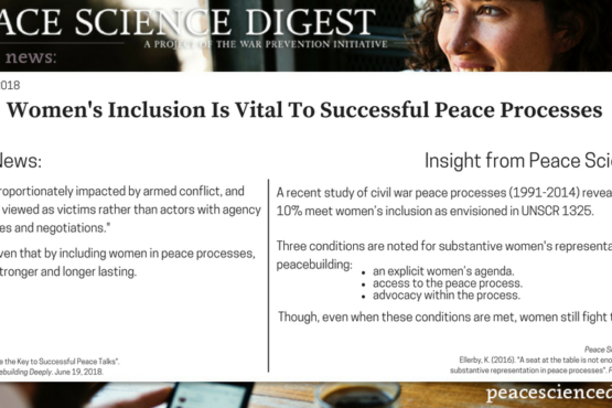 Women's Inclusion Is Vital To Successful Peace Processes