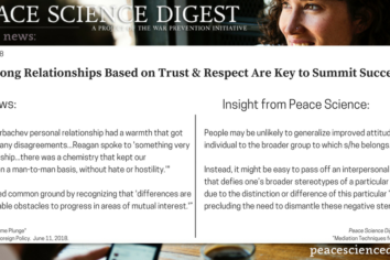 Strong Relationships Based on Trust & Respect Are Key to Summit Success