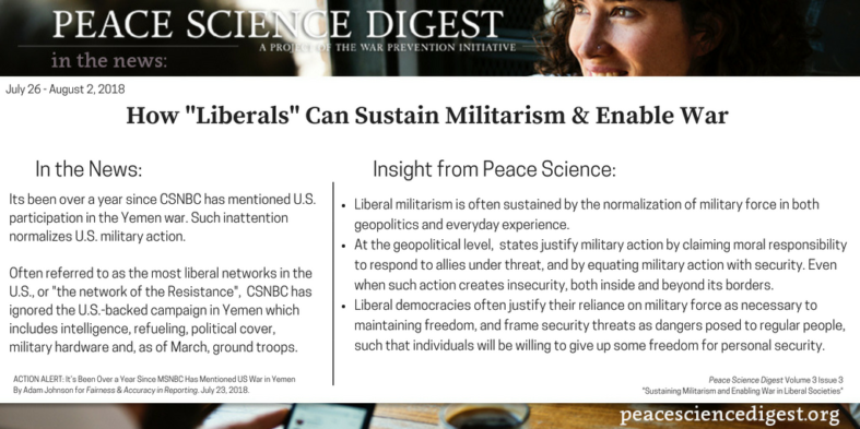 "How ""Liberals"" Can Sustain Militarism & Enable War"
