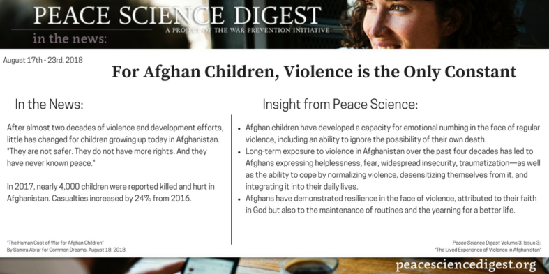 For Afghan Children, Violence Is The Only Constant