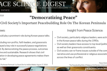 Civil Society's Important Peacebuilding Role On The Korean Peninsula