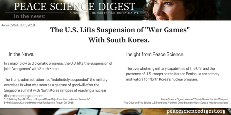 """The U.S. Lifts Suspension of """"War Games"""" With South Korea"""