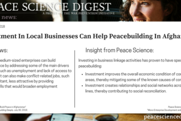 Investment In Local Businesses Can Help Peacebuilding In Afghanistan