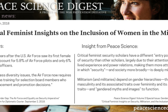 Critical Feminist Insights on Security, Militarism, and the Inclusion of Women in the Military