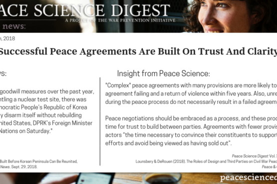 Successful Peace Agreements Are Built On Trust And Clarity