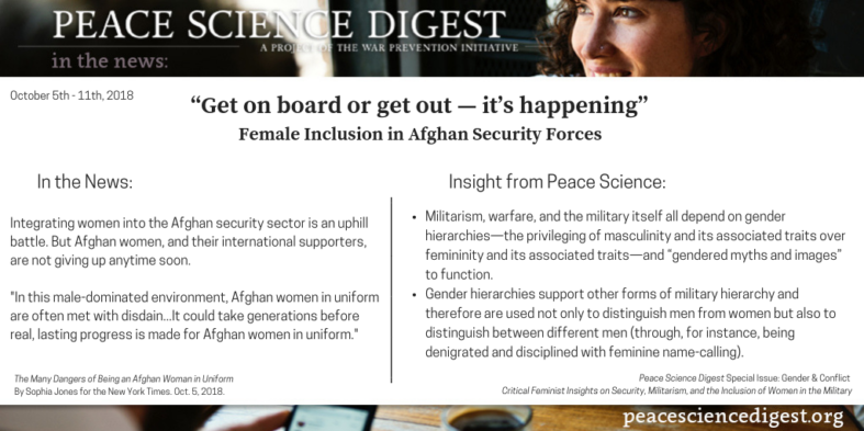 "Female Inclusion in Afghan Security Forces: ""Get on board or get out — it's happening"""