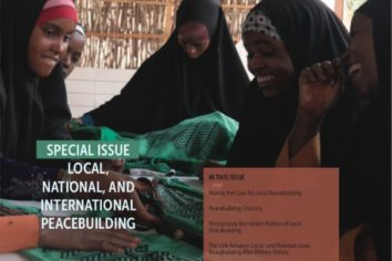 Special Issue: Local, National, and International Peacebuilding